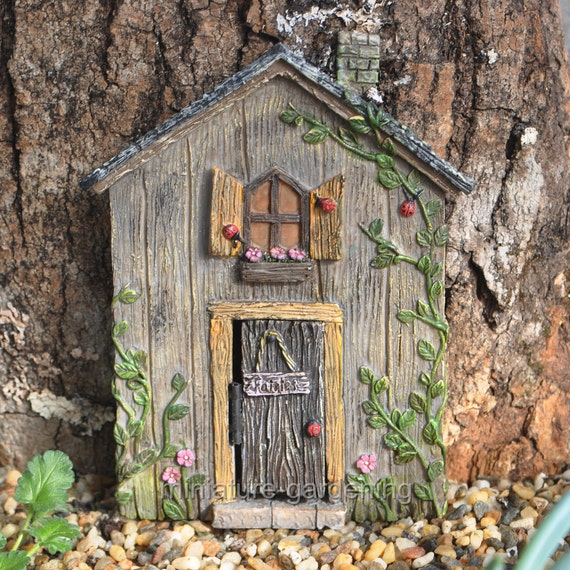 Ladybug fairy door for miniature garden fairy garden for Miniature fairy garden doors