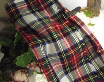 Kilt, Scottish Tartan Ladies Vintage , Jedburgh Kiltmakers , Size 18 ( UK)