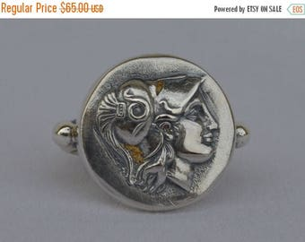 For Sale Goddess Athena Silver Ring Size Us 7- Symbol of Wisdom Strength-Strategy Justice