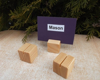 50 Place card holders, Wood place card holders, Unfinished stands, Table number holders, Wedding decor, Wedding, Photo props, Holders
