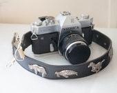Leather Camera Strap - Minolta Camera Strap - Recycled Camera Strap  - Film Camera Strap