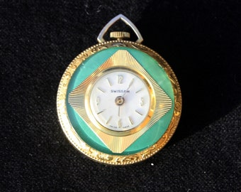 Pretty Swiss Made Fob Watch in Working condition No chain (Ref: 5328)