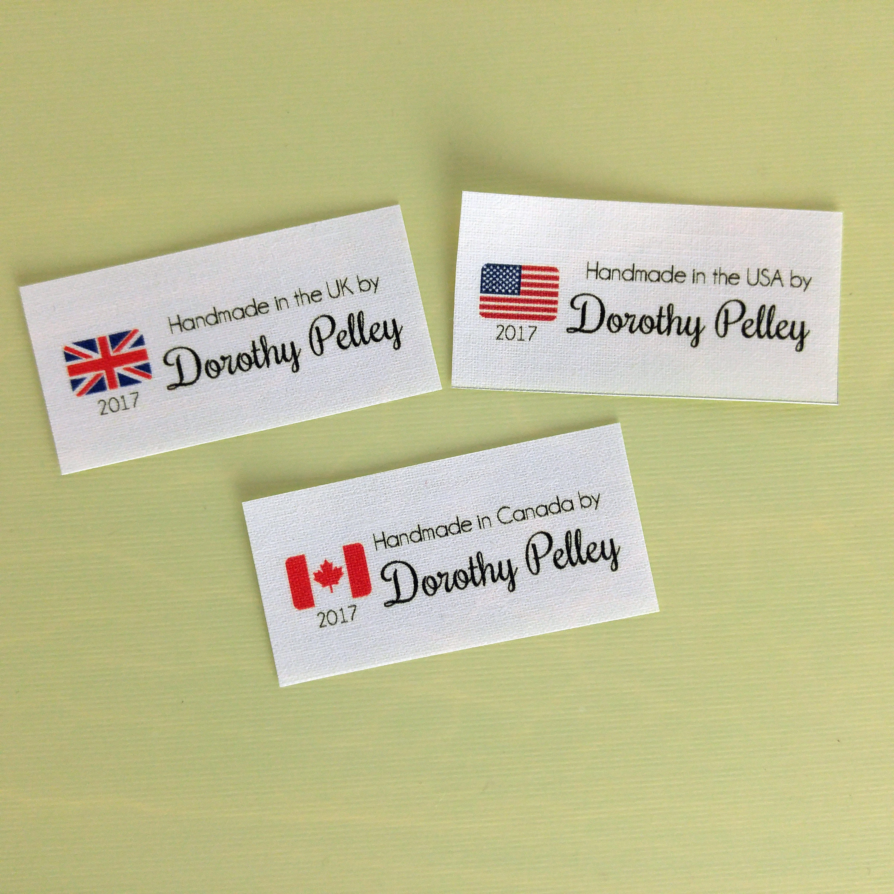 Knitting Labels Canada : Fabric labels iron on label quilt tags