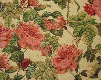 Tapestry Rose Luxury Designer Fabric Ideal For Upholstery Curtains Cushions Throws