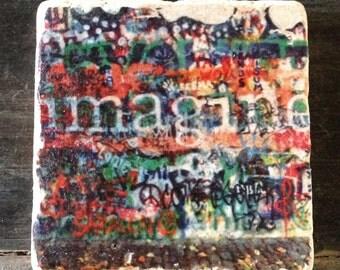 Imagine Graffiti Coaster or Decor Accent