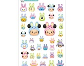 Easter Bunny Tsum Tsum Stickers - Disney Planner Stickers