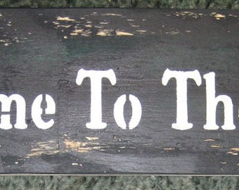Welcome to the Zoo....large sign.... Wall Plaque Hanging,wood// Primitive looking