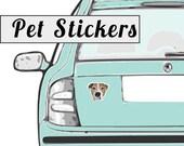 "CUSTOM PET STICKERS | Set of 50 | Send your favorite photo | 3"" Die Cut Vinyl Stickers | Dog | Cat|"