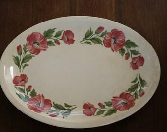 Paden City Shenandoahware PCP69 14 inch oval serving platter