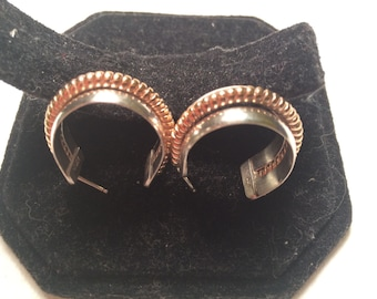 925 sterling silver and 1/20 12k gold earrings