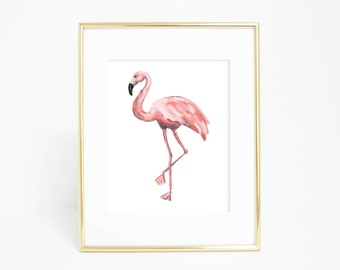 flamingo print gift for her tropical wall art pink flamingo printable flamingo flamingo poster beach decor art print girls nursery