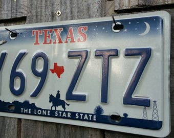 Texas license plate, collectible, man cave, garage, office item, decor