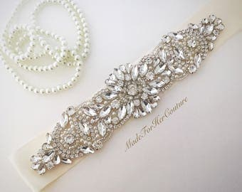 Ivory Wedding sash-Ivory wedding Belt-Pearl Crystal Sash-Rhinestone belt sash-Ivory Bridal Belt- Ivory Bridal Sash