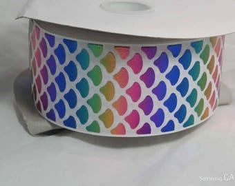 "3"" Rainbow Scale Grosgrain Ribbon"