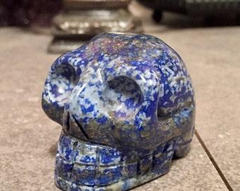 SALE!!   Lapis Lazuli Crystal Skull geode head E1610521