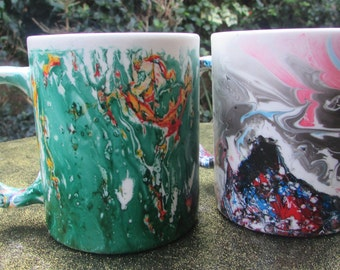 Marbled Mugs (pair)
