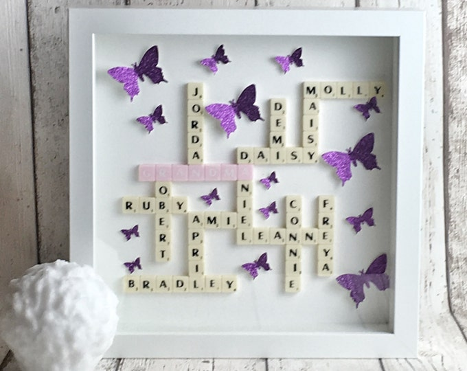 Mini scrabble frame