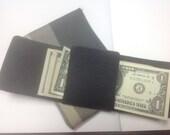 Horween Black bison Origami Fold wallet