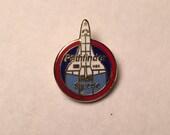 Vintage Pathfinder Space Shuttle hat lapel pin  70s 80s NOS NASA