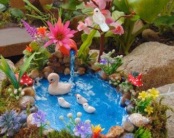 Fairy Garden Pond,Fairy Pond, Miniature Pond, Fairy Garden Accessory,Miniature Garden Pond,Miniature Garden Accessory, Fairy Garden Kit