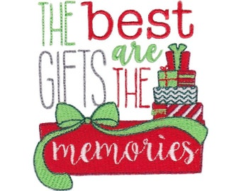 Christmas Sentiments Nine Design 12 Filled Stitch Machine Embroidery Design 4x4 5x7 6x10
