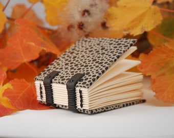 Small notebook, mini book, small Christmas gift, mini, Coptic binding diary, notebook