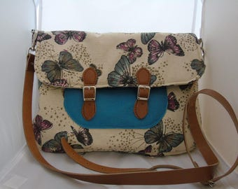 Butterfly Print Cross body/Shoulder bag/Backpack (free P&P)
