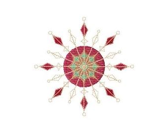 Festive Snowflake 7 Machine Embroidery Design
