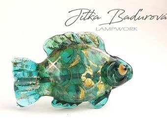 Lampwork bead, fish