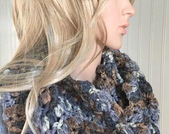 Crochet infinity scarf - infinity scarf - women scarf - teenager fashion - loop scarf - handmade infinity scarf - crochet loop scarf