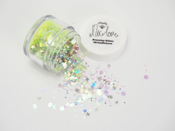 Iridescent Canary Cosmetic Face Glitter