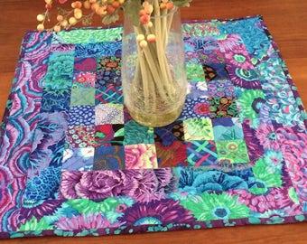 Kaffee Fassett fabric table topper