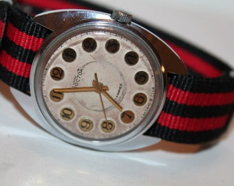 USSR vintage men's watch Wostok.Soviet Era Wrist Watch Wostok 1970s Soviet mechanical watches.Watch ВОСТОК