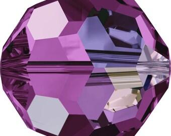 Swarovski Crystal Round Beads 5000 -3mm  4mm 6mm 8mm - Amethyst AB