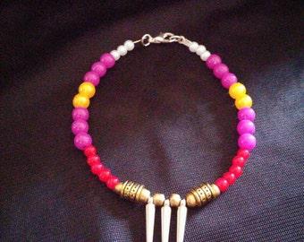 Vega (Street Fighter) Inspired Handmade Beaded Bracelet