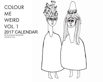 colour me weird calendar - Weird Coloring Books