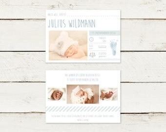 30 x baby card | Birthday card | Julius