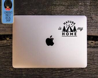 Nature Is My Home Macbook / Laptop Vinyl Decal