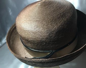 Lilly Dache Straw Hat, 1960s Dachettes; Dache hat, lilly dache hat, straw