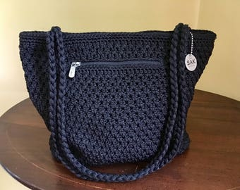 The SAK Original Black Nylon Handbag