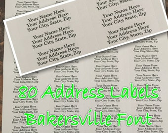 """White Address Labels Affordable Return Address Labels Stickers  1/2""""h x 1 3/4""""w / 80 per sheet  Home address or Business address stickers"""