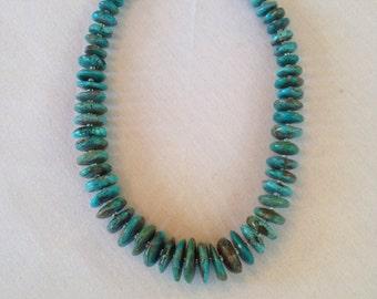 Turquoise rondelles necklace
