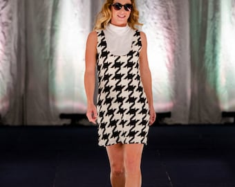 Houndstooth Dress / 100% Cotton