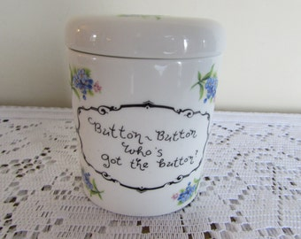 "Jubilee China Made in England: Button Holder with lovely floral pattern (3 3/4"" by 2 3/4"" by 2 1/4"""