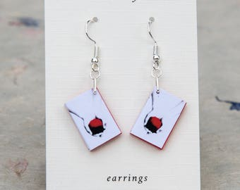 Twilight mini book earrings