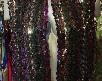 1990' multicolor sequined vest. Size M/L.