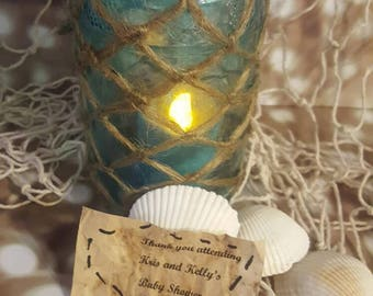 Centerpeice Mermaid Jars Custom Baby Shower Party Decor