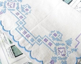 Unused Art Deco Irish Linen Nightdress Slip Case