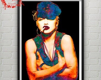 Pop Art Portrait Of Madonna