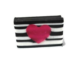 BombShell Heart Soap - Secret Pink Soap - Valentines Day Heart Soap - Artisan Soap - Pretty Soap - Royalty Soap - Organic Bar Soap - Girly